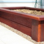 Raised Ironbark Vege Garden with Seat Edging